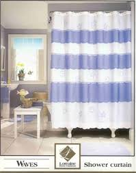novelty shower curtains. Waves - A Novelty Shower Curtain Made In Bouffant Style Featuring Embroidered Shells And Starfish Curtains R