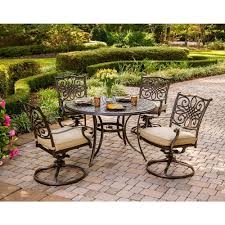 Patio Furniture: Hanover Traditions Piece Patio Outdoor Dining Set ...
