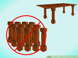 cheap reclaimed wood furniture. image titled buy a reclaimed wood table step 3 cheap furniture r