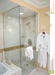 Luxury Hotel Shower And Robe Stock Photography Image