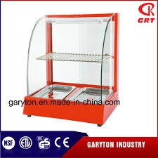 china commercial electric curved food warmer grt 2p d display showcase with trays china curved food warmer display showcase with trays
