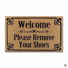 Doormat please remove shoes doormat images : Rubber Doormat For Entrance Door Floor Mat Welcome Please Remove ...
