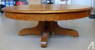vintage round oak coffee table 44 inch for in lincoln new hampshire