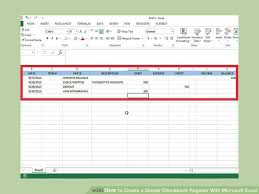 register balance sheet how to create a simple checkbook register with microsoft excel