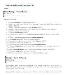 Marketing Manager Sample Resume Keralapscgov