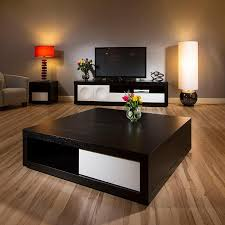 ... Coffee Table, Exciting Farmhouse Wood Square Black Coffee Table Idea:  Brilliant Square Black Coffee ...