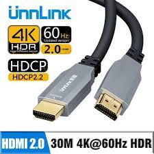 Unnlink Quang Cáp HDMI Sợi Cáp HDMI 2.0 4K 60Hz 10 M 15M 20 M 30 M cho HD  Tivi Led Laptop PS4 Xbox Máy Chiếu Bộ Chia Công Tắc|Cáp HDMI