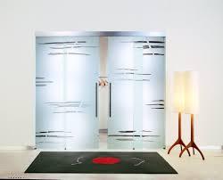 modern sliding glass door design for isticated living room with elegant floor lamp