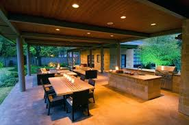 modern outdoor kitchen excellent recessed lighting for modern outdoor kitchen ideas with wooden table and stone modern outdoor kitchen
