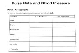 Pulse Rate Chart For Exercise Solved Fill Out The Charts Using Experimental Test Result