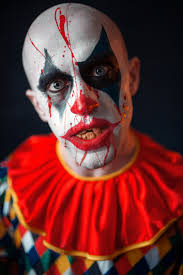 Premium Photo | Portrait of mad bloody clown, face in <b>blood</b>. <b>man</b> ...