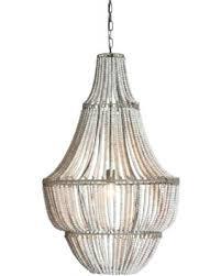 hot metal and wood beads chandelier white wash in bead design 0 world market starburst