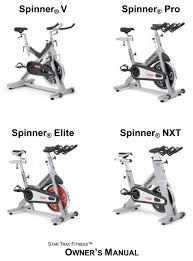 star trac spiner v owner s manual pdf