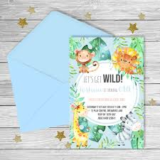 Jungle Theme Birthday Invitations Jungle Theme Party Printable Pack Digital Files