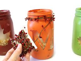 Decorate Jar Candles How to Create Fall Monogram Mason Jar Candles DIY 74