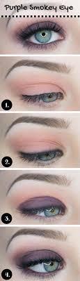 purple smokey makeup for blue eyes
