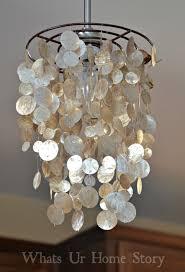 diy capiz chandelier