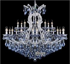 amazing of large white chandelier blue color maria theresa crystal chandelier lamplightlighting