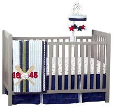 triboro just born 3 piece crib bedding set vintage sports