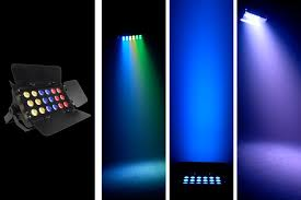 chauvet slimbank tri 18 color led wash lights