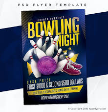 Bowling Event Flyer Template Adobe Photoshop Psd Template Flyer Flyertemplate