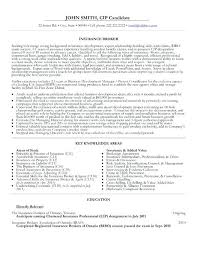 Insurance Broker Resume Template Sample Samples Agent Objective