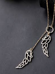 double wing pendant necklace 1