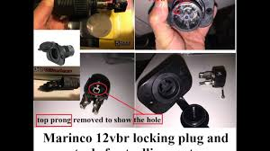 a close up look of marinco trolling motor receptacle (part 1 of 2 24 Volt Battery Wiring a close up look of marinco trolling motor receptacle (part 1 of 2)