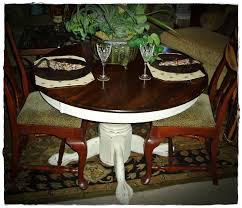 french country round pedestal kitchen table