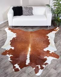 brown white brazilian cowhide rug 326 33 5 sq