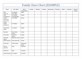 Household Chores Roster Printable Family Chore Charts Template Home Pinterest Family
