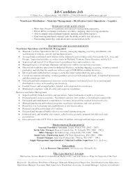 Sample Resume For Warehouse Skinalluremedspa Com