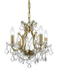shown in antique gold finish and clear hand cut crystal semi flush mount mini chandelier mini chandelier flush mount light fixture flush mount small crystal
