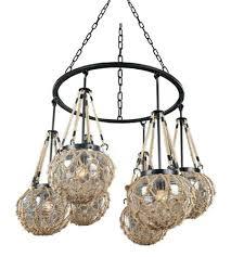 6 light inch satin bronze chandelier ceiling sfera autumn