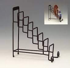 Plate Display Holders Stands Plate Stands Wrought Iron Seven or Eight Place Plate Holder 4
