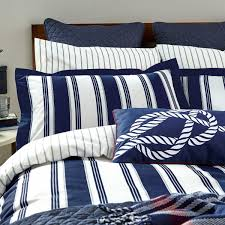 navy striped bedding