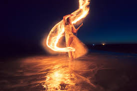 Fire Lighting Torch How A Photographer Created Fantastic Light Painting With