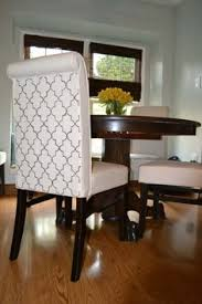 stenciled parsons chairs how to