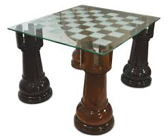 megachess 36 inch etched glass giant chess table rooks