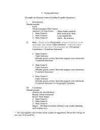 proper essay outline 100 five paragraph essay outline example 5 paragraph essays