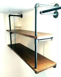 black pipe shelves iron a unique take on wall shelf