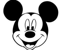 Mickey Mouse Gezicht Kleurplaat 25 Best Mickey Mouse Silhouette