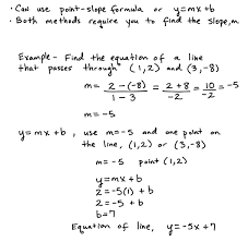 some key topics that involve finding the equation of a line