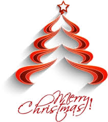 Cute Red Merry Christmas Tree Logo Vector Ai Free Download
