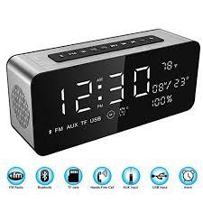 radio for office. Soundance Alarm Clock FM Radio Bluetooth Speaker With HD Sound 9.4\u201d LED Digital Display Of For Office F