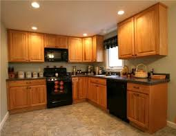 Small Picture Kitchen Paint Colors With Oak Cabinets And Black Appliances