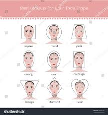 diffe face shapes and best makeup for your face shape vector