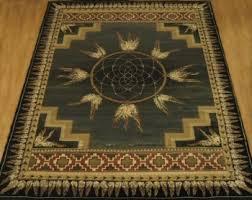 dream catcher green native american southwestern area rug southwestern area rugs s52