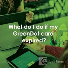 what do i do if my green dot card expired