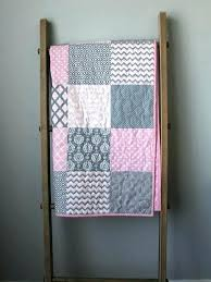 purple and gray quilt quilts pink baby quilt baby quilt girl modern baby quilt pink and